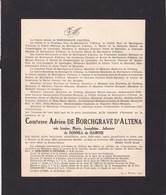 HAMOIR AUBEL Louise De DONNEA De HAMOIR Comtesse Adrien De BORCHGRAVE D'ALTENA 1878 - Le Sart D'Aubel 1937 - Avvisi Di Necrologio