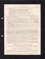 GOUY-EN-ARTOIS Maire Henri Comte De DIESBACH De BELLEROCHE époux De GOURCY-SERAINCHAMPS 1861-1906 - Avvisi Di Necrologio