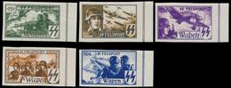 E 44-48 Ongetand Non Dentelé + Certificat Kaiser - Commemorative Labels