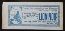 ANCIEN BUVARD LION NOIR USINE DE MONTROUGE CIRAGE - Wash & Clean