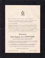 LUXEMBOURG SAINT-JOSSE Adèle EYDT 1861-1940 Veuve Jules-Auguste De La FONTAINE Famille NOTHOMB LANCKSWEERT - Avvisi Di Necrologio