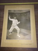 1903 RARE PORTRAIT RUE CHAMPION ESCRIME - Collections