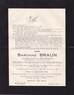 GAND DESTELBERGEN Marie-Caroline BOTERDAELE Baronne BRAUN 1854-1927 Famille FEYERICK Faire-part Mortuaire - Avvisi Di Necrologio