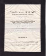 LIEGE Paul-Edouard BORGNET Veuf BEGASSE De DHAEM 1863-1944 Phénix WORKS Flémalle-Haute FLEMALLE-GRANDE - Avvisi Di Necrologio