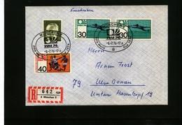 Deutschland / Germany 1974 Fussball Weltmeisterschaft In Muenchen R-Brief - Coppa Del Mondo