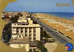 Rimini - Lungomare Centro Balneare Dell'adriatico - Formato Grande Viaggiata – E 5 - Rimini