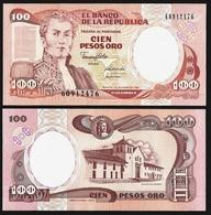 Colombia 100 PESOS ORO 1990 P 426e UNC (Colombie,Kolumbien) - Colombia