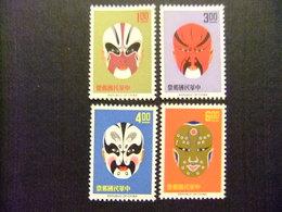 FORMOSA FORMOSE Taiwan 1966 MASQUES D'ACTEURS De THÉÂTRE Yvert 533 / 536 ** MNH - Ungebraucht