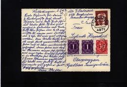 Austria / Oesterreich 1972 Interessantes Brief Mit Oesterreich Portomarken Auf Postkarte Aus Deutschland - 1971-80 Covers