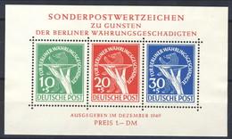 Berlino 1949 Serie N. 54-56 Foglietto MNH Postfrisch Cat. €  950 Firmato Diena E Sorani - Ungebraucht