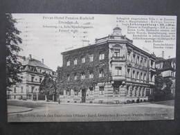 AK DRESDEN Schnorrstrasse Hotel Rudeloff 1931 //  D*31190 - Dresden