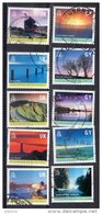Guernsey 2001 Island Scenes Set Of 10 Used - Guernsey