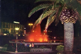 Viareggio - Di Notte - Fontana Luminosa - Piazza G.mazzini - Formato Grande Viaggiata – E 5 - Viareggio