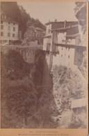 Photo Sur Carton  : Pont En Royans (38) Maisons Suspendues Au Dessus De La Bourne N° 407  Restaurant - Places