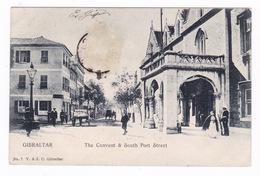 Jolie CPA Animée, Gibraltar, Convent, South Port Street. A Voyagé En 1904 - Gibraltar