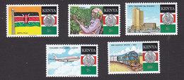 Kenya, Scott #476-480, Mint Hinged, 25th Anniversary Of Independence, Issued 1988 - Kenya (1963-...)