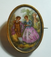 Brooch * Limoges * France * Have A Problem On The Pin Suport - Broschen