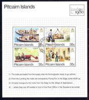 Pitcairn Islands 1980 London 80 Souvenir Sheet Fine Used. - Pitcairn Islands