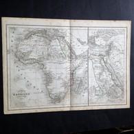 Carte Géographique Ancienne L'Afrique Par De Lamarche 1843. - Geographical Maps