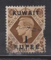 KUWAIT Scott # 79 Used - GB Stamp Overprinted - Damaged At Right Side - Kuwait