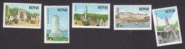 Kenya, Scott #481-485, Mint Hinged, National Monuments, Issued 1988 - Kenya (1963-...)