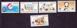 Kenya, Scott #486-490, Mint Hinged, Red Cross, Issued 1989 - Kenya (1963-...)