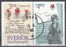 SVERIGE - SVEZIA - 1985 - Due Valori Obliterati Uniti Fra Loro: Yvert 1318 E 1319. - Gebraucht