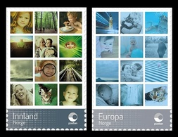 Norway 2018 Mih. 1964/65 Personal Stamps. Fauna. Cats. Nature. Waterfall. Tower. Portraits MNH ** - Norway