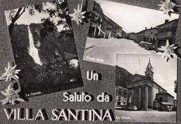 VILLA SANTINA-UDINE-UN SALUTO DA- MULTIVEDUTE-(3 IMMAGINI)-CARTOLINA VERA FOTOGRAFIA-VIAGGIATA IL 10-8-1965 - Udine