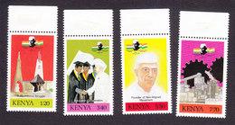 Kenya, Scott #501-504, Mint Never Hinged, Jawaharial Nehru, Issued 1989 - Kenya (1963-...)