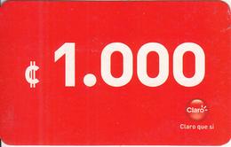 NICARAGUA - Claro Prepaid Card C 1000, Used - Nicaragua