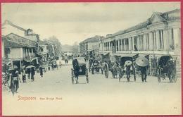 Collection-Singapore (UNC) 1900s New Bridge Road (Rickshaw,Pousse-pousse) N°64 Straits Settlements Union Postale Cpa - Singapore