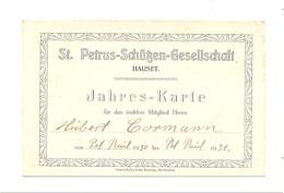 HAUSET - Carte De Membre Société St Petrus 1930/1931 (nod) - Collections