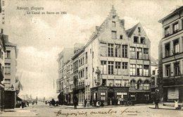 TRES RARE   ANVERS DISPARU LE CANAL AU SUCRE EN 1901 - Antwerpen