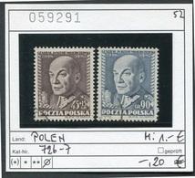 Polen - Poland - Pologne - Polska - Michel 726-727 - Oo Oblit. Used Gebruikt - 1944-.... Republik