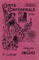 H115 - Carte Confédérale CGT Année 1936 - Documenti Storici