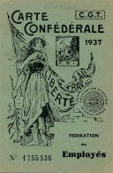 H115 - Carte Confédérale CGT Année 1937 - Documenti Storici