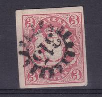 Wappen 3 Kr. Mit Geschlossenem Mühlradstempel 315 (=Miltenberg) - Bavière