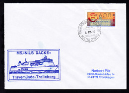 TRAVEMÜNDE-TRELLEBORG TRELLEBORG POSTAD OMBORD 5.12.95 + Cachet MS Nils Dacke - Non Classés