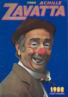 Programme Cirque Achille ZAVATTA - 1982 - - Programme