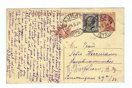 Italien, 1924, Postkarte Mit Eingedr. 30Cent. Frankatur U. Zusatzfrankatur 15 Cent., Stempel Laurana (11467W) - 1900-44 Victor Emmanuel III.