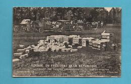 Automobile Pub Pubicité Essence Et Huile  ( Benzo , Saxol ) Voyage Du President De La Republique - Publicité