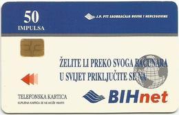 Bosnia Chip Card 1998. BIHnet - Bosnia