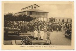 CPA - DJIBOUTI - Convoi Italien Sur Le Plateau De La Gare - Djibouti