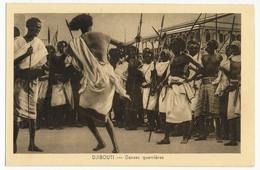 CPA - DJIBOUTI - Danses Guerrières - Djibouti