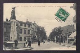 """CPA 31 - TOULOUSE - La Rue De La Concorde Et La Fontaine """" La Poésie Romane """" ANIMATION - CP Voyagée 1914 - Toulouse"""