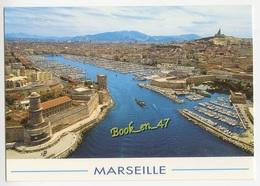 {77401} 13 Bouches Du Rhône Marseille , Vue Du Ciel : Le Vieux Port , Fort Saint Jean , Fort Saint Nicolas - Vieux Port, Saint Victor, Le Panier