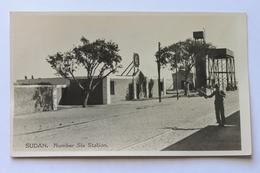 Number Six Station, Sudan, Africa, Real Photo Postcard - Sudan