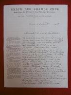 LETTRE AUTOGRAPHE DE CADORET ARTHUR AU SENATEUR BOISSY D ANGLAS 1908 ADMISSION COSTIERES DE NIMES - Autographes