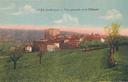 07 // ALBA   Vue Générale Et Le Chateau - France